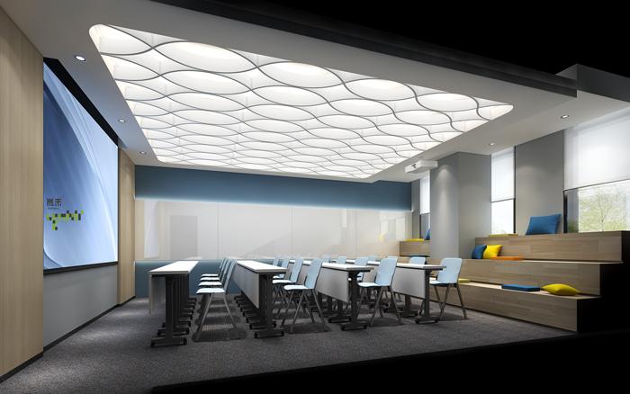医疗公司办公室培训室装修设计效果图