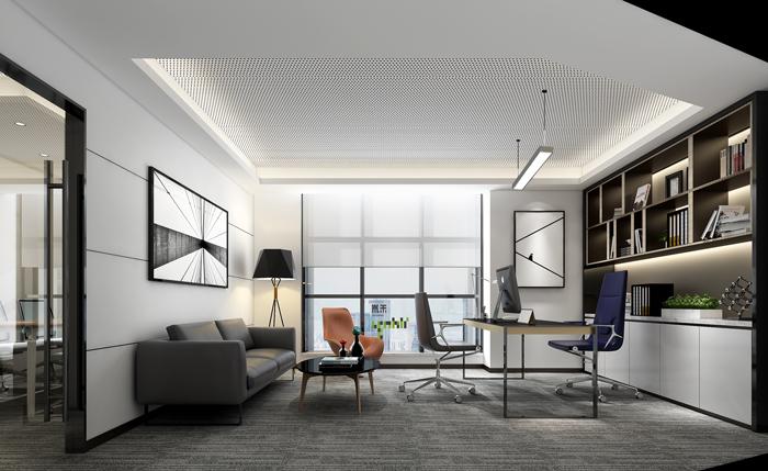 医疗公司办公室装修设计效果图_岚禾办公室设计