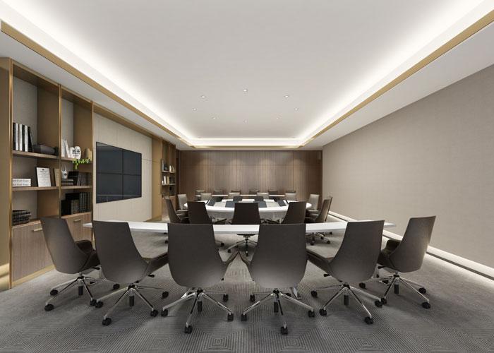 杭州食品公司办公室会议室装修设计效果图