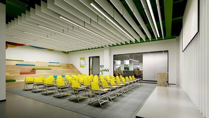 杭州食品公司办公室培训室装修设计效果图