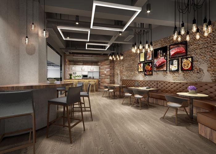 杭州食品公司办公室茶水间装修设计效果图