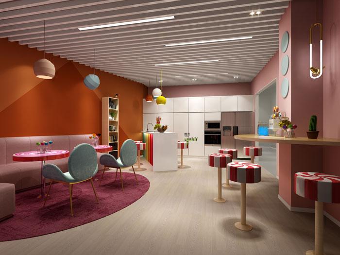 杭州食品公司办公室糖果间装修设计效果图