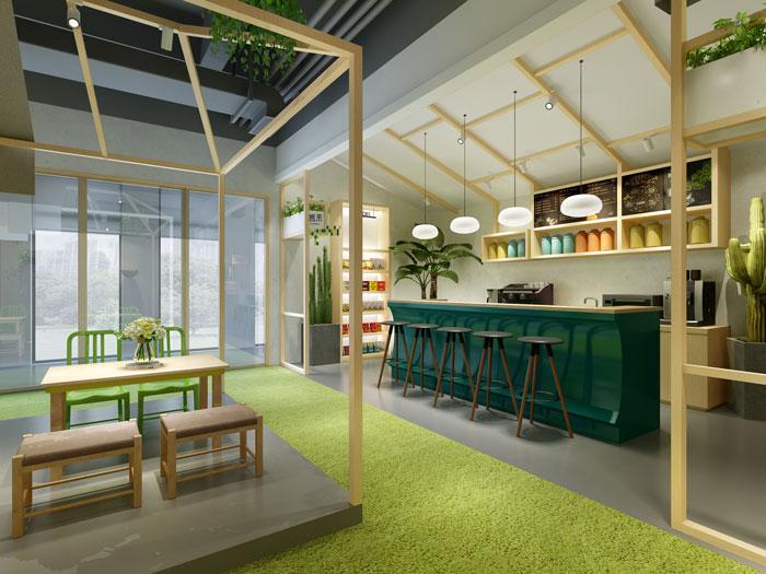 杭州食品公司办公室休息区装修设计效果图