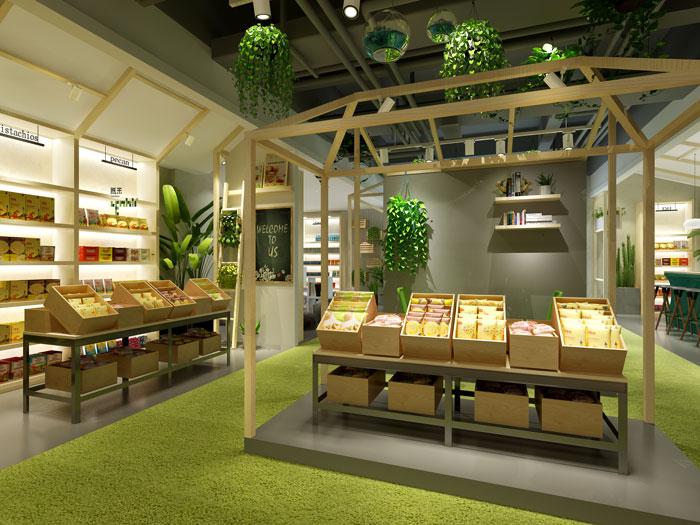 杭州食品公司办公室展区装修设计效果图