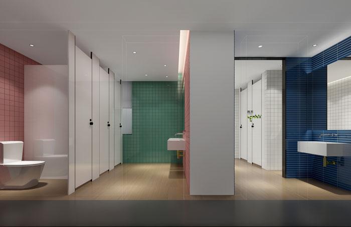 杭州食品公司办公室卫生间装修设计效果图