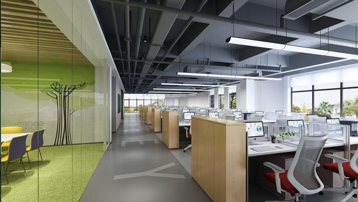 杭州食品公司办公室办公区装修设计效果图