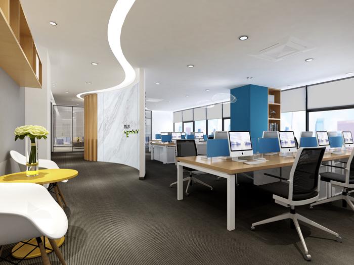 杭州外贸公司办公室装修设计效果图
