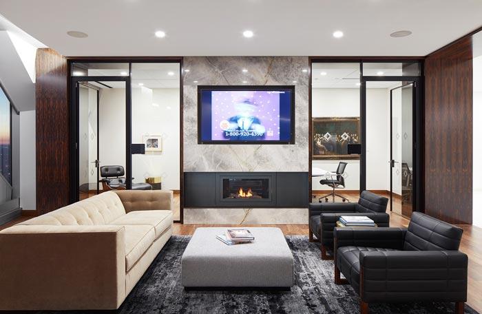 投资公司办公室洽谈室装修设计效果图