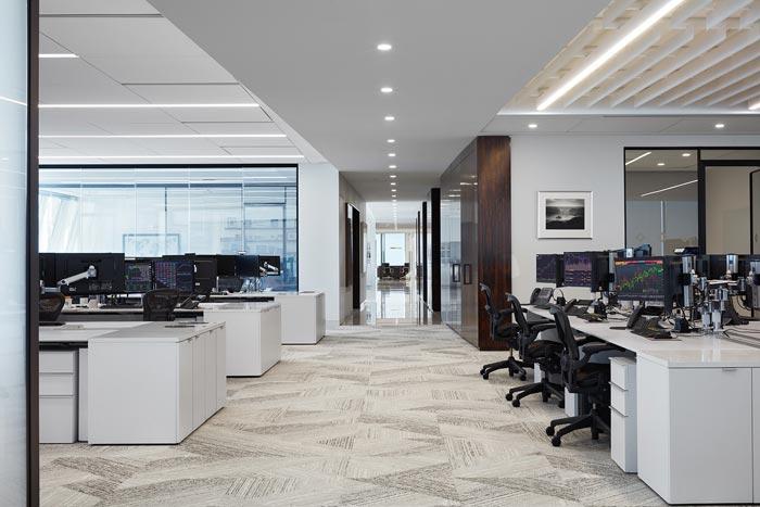 投资公司办公室办公区装修设计效果图