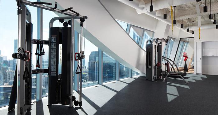 投资公司办公室健身区装修设计效果图