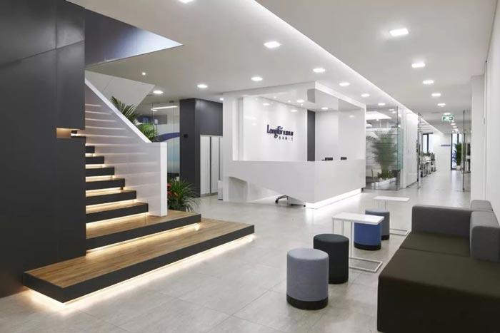 10000平方集團辦公室前臺設計方案