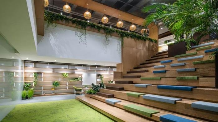 10000平方集團辦公室閱讀區設計方案