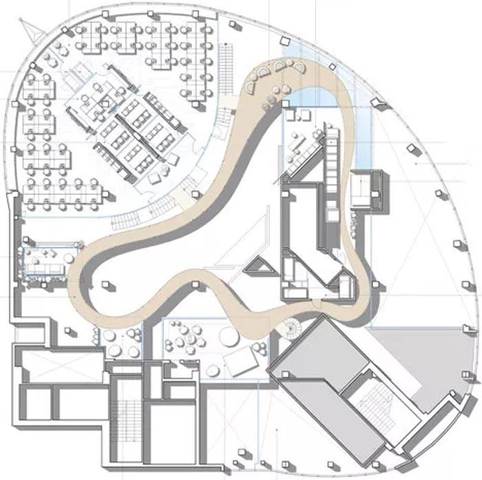 二(2)层办公室二层平面图