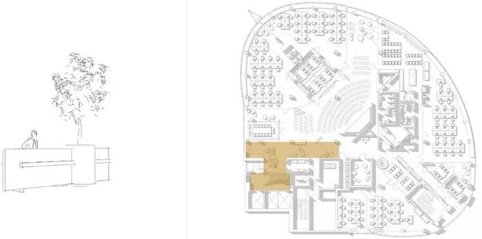 二(2)层办公室二层平面效果图