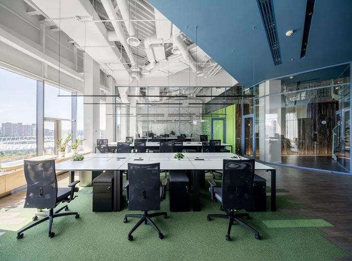 二(2)层办公室办公区设计方案