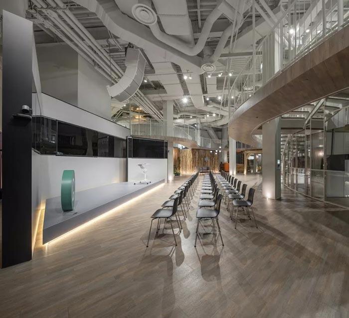 二(2)层办公室聚会大厅设计方案