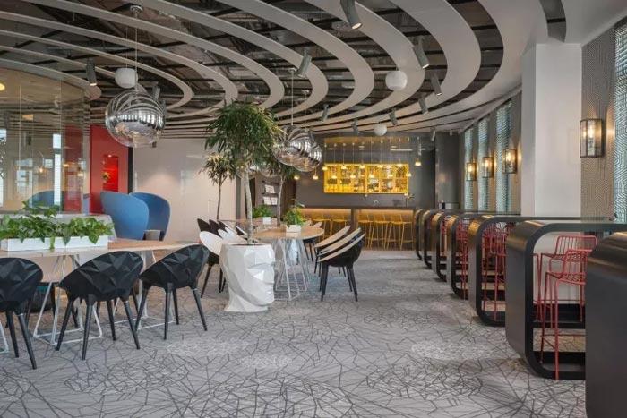 2500平方办公室休息区装修设计效果图