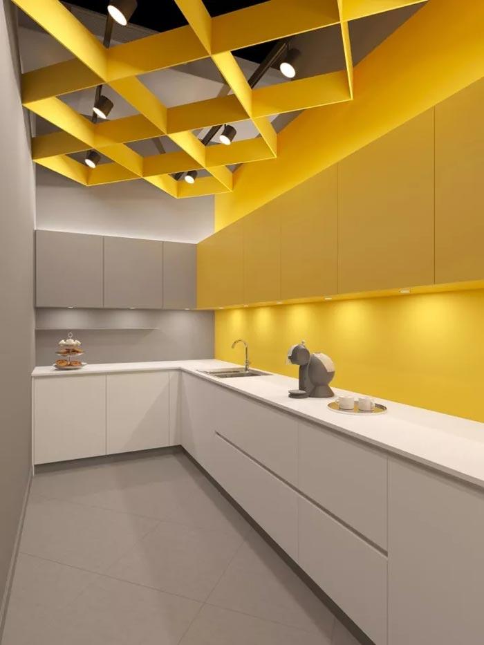2500平方办公室茶水间装修设计效果图