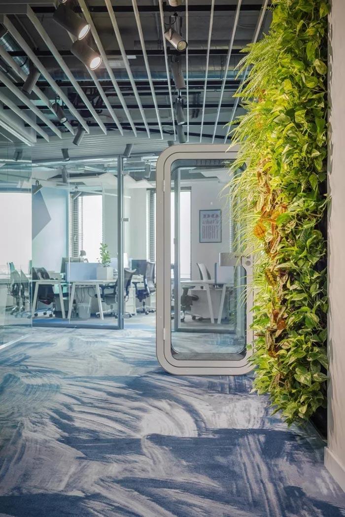 2500平方办公室过道装修设计效果图