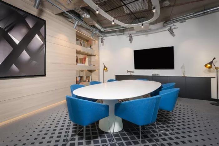 2500平方办公室洽谈室装修设计效果图