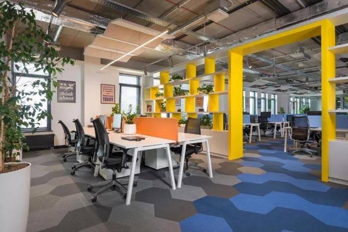 2500平方办公室办公区装修设计效果图