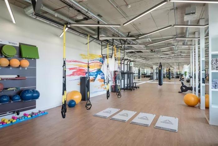 2500平方办公室健身区装修设计效果图