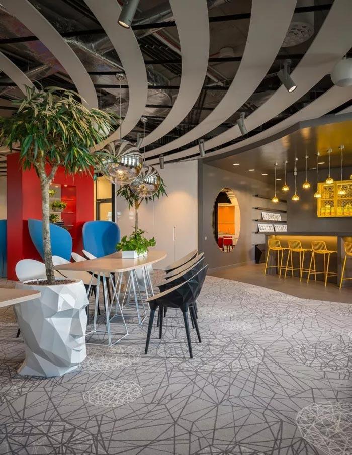2500平方办公室吧台装修设计效果图