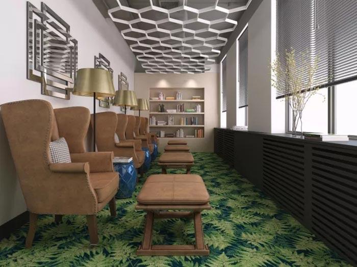 2500平方办公室阅读区装修设计效果图