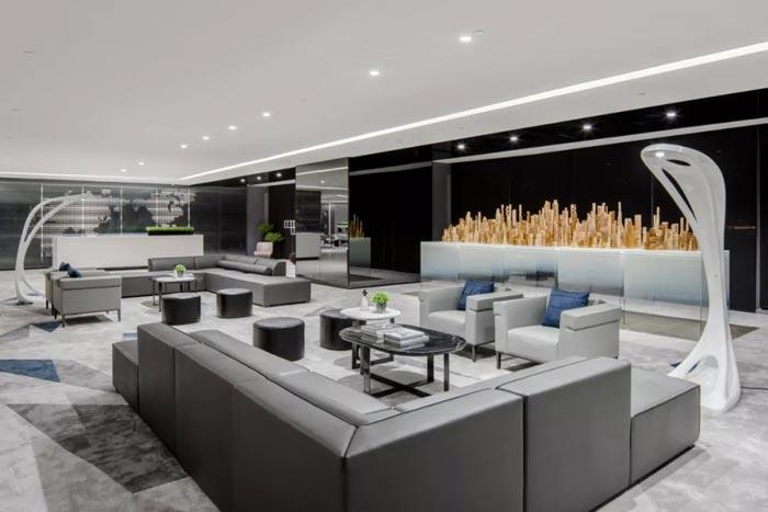 3000平方办公楼接待区设计方案