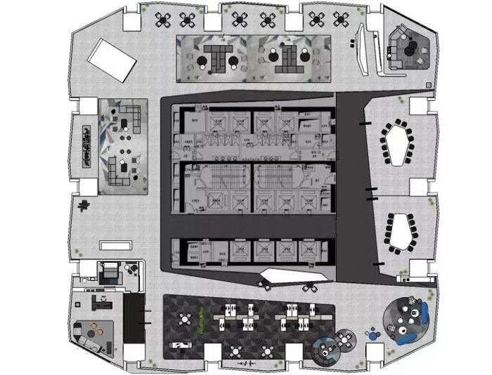 3000平方办公楼设计平面图