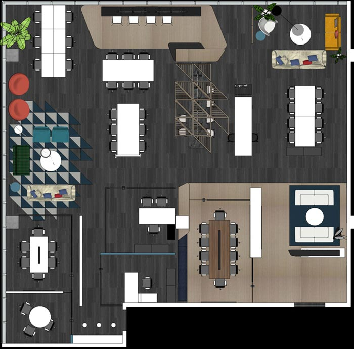 400平方办公室设计平面图
