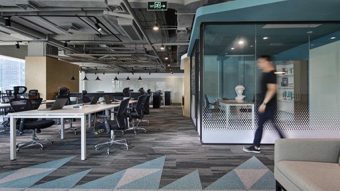 400平方办公室办公区设计方案