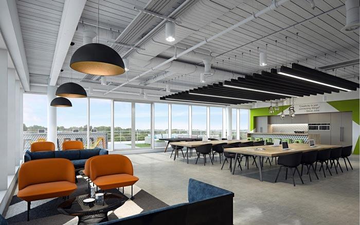 夹层楼办公室休息区装修设计效果图