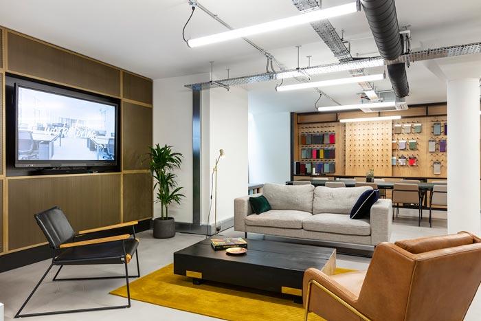 两层办公室汇报区装修设计效果效果图
