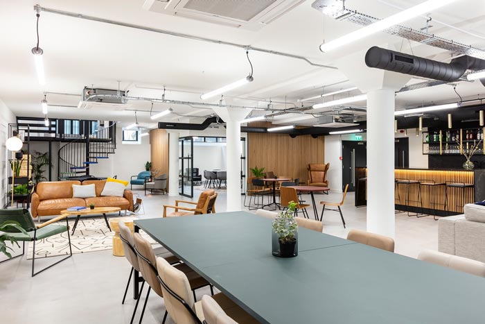 两层办公室负一层装修设计效果效果图