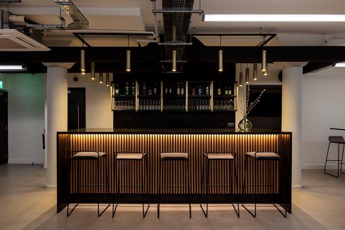 两层办公室吧台装修设计效果效果图