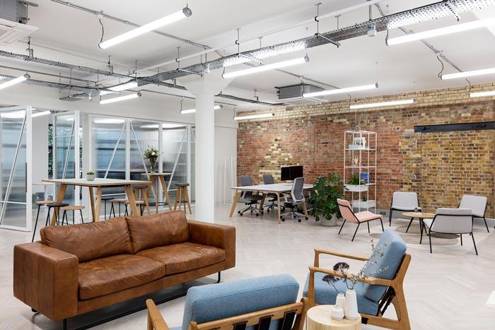 两层办公室开放区装修设计效果效果图