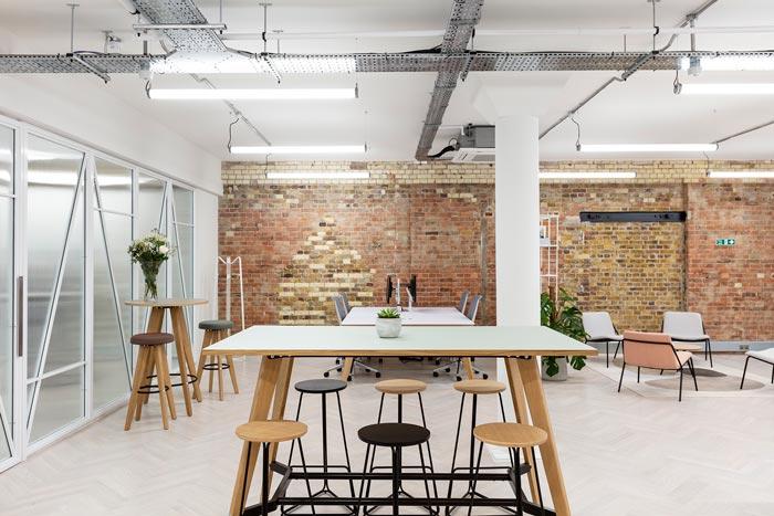 两层办公室交流区装修设计效果效果图